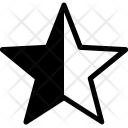 Feedback Star Half Icon