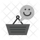 Happy Customer Shopping Icon