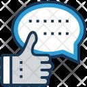 Chat Feedback Thumbs Icon