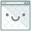 Smiling Webpage Feedback Icon