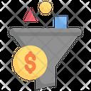 Internet Marketing Filter Funnel Short Icon