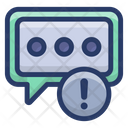 Feedback Error Message Error Communication Problem Icon