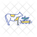 Feeding Livestock Cow Icon