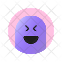 Feeling Happy With Closed Eyes And Open Mouth Emoji Emoticon Icon