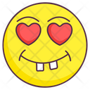 Feeling Love Emoji Goofy Expression Emotag Icon