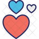 Hearts In Love Love Icon