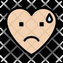 Sad Tear Heart Icon