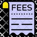Fees Receipt Voucher Bill Icon