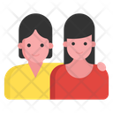 Young Girls Besties Fellowship Icon