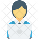 Female Boss Manager Icon