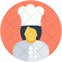 Female Chef Cooker Icon