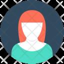 Female Anchor Receptionist Icon