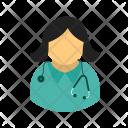 Female Doctor Healthcare Icon
