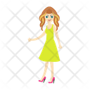 Girl Dress Shopping Icon