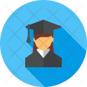 Female Student Study Icon