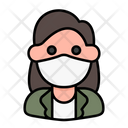 Woman Avatar Medical Mask Icon