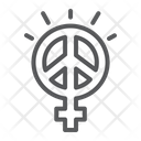 Female Peace Sexism Icon