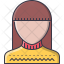 Barbershop Female Pullover Icon