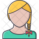 Dress Female Pigtail Icon