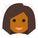 Black Female User Icon