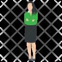Businesswoman Working Lady Icon