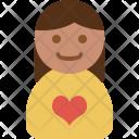 Female Account Girl Icon