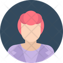 Female Anchor Secretary Personal Assistant Icon