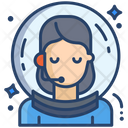 Female Astronaut Icon