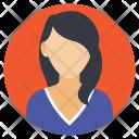 Character Female Portrait Icon