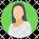 Silhouette Avatar Female Icon