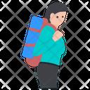 Female Backpacker Female Explorer Female Adventurer Icon