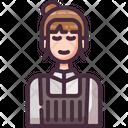 Female Barista Barista Waiter Icon