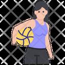 Female Beach Player Icon
