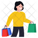 Happy Shopping Purchase Shopping Girl Icon