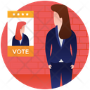 Election Female Candidate Election Candidate Nominee Icon