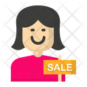 Female cashier Icon
