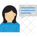 Female Chatting Conversation Dialogue Icon