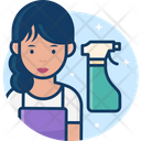 Female Cleaner Icon