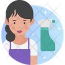 Female Cleaner Cleaner Woman Icon