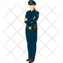 Female Constable Female Sargent Female Security Icon