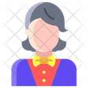 Female Croupier Avatar Croupier Icon