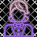 Female Croupier Icon