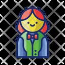 Female Croupier Femle Croupier Icon