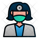 Female Dentist Doctor Profession Icon