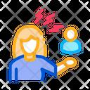 Female Discussion Conviction Icon