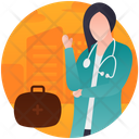 Medical Person Female Doctor Surgeon Icon