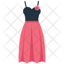 Female Dress With Flower Female Dress Dress Icon