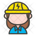 Female Electrician Icon