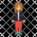 Employee Female Girl Icon