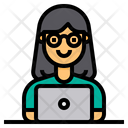 Employee Worker Laptop Icon